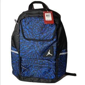 Nike Air Jordan Backpack Gym bag Laptop Blue
